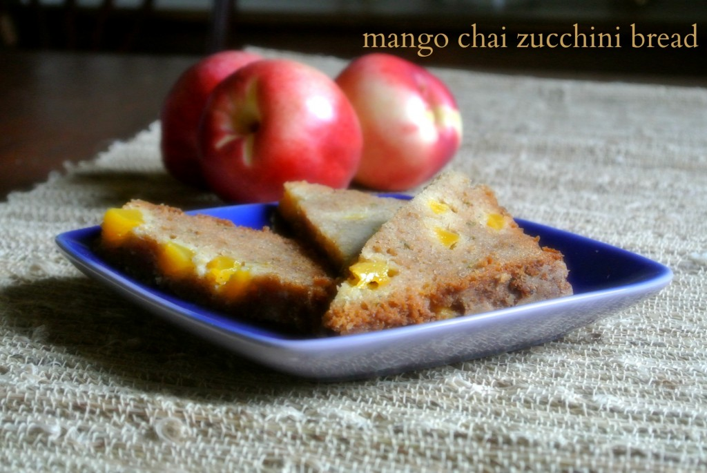 gluten free mango chai zucchini bread made with better batter gluten free flour