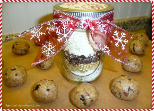 Cookie Bites in a Jar mix from The Nourishing Home