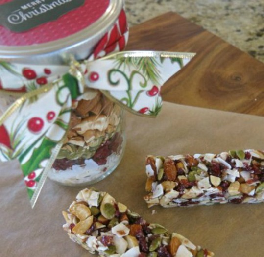 Fruit and Nut Bars in a Jar from the Nourishing Home