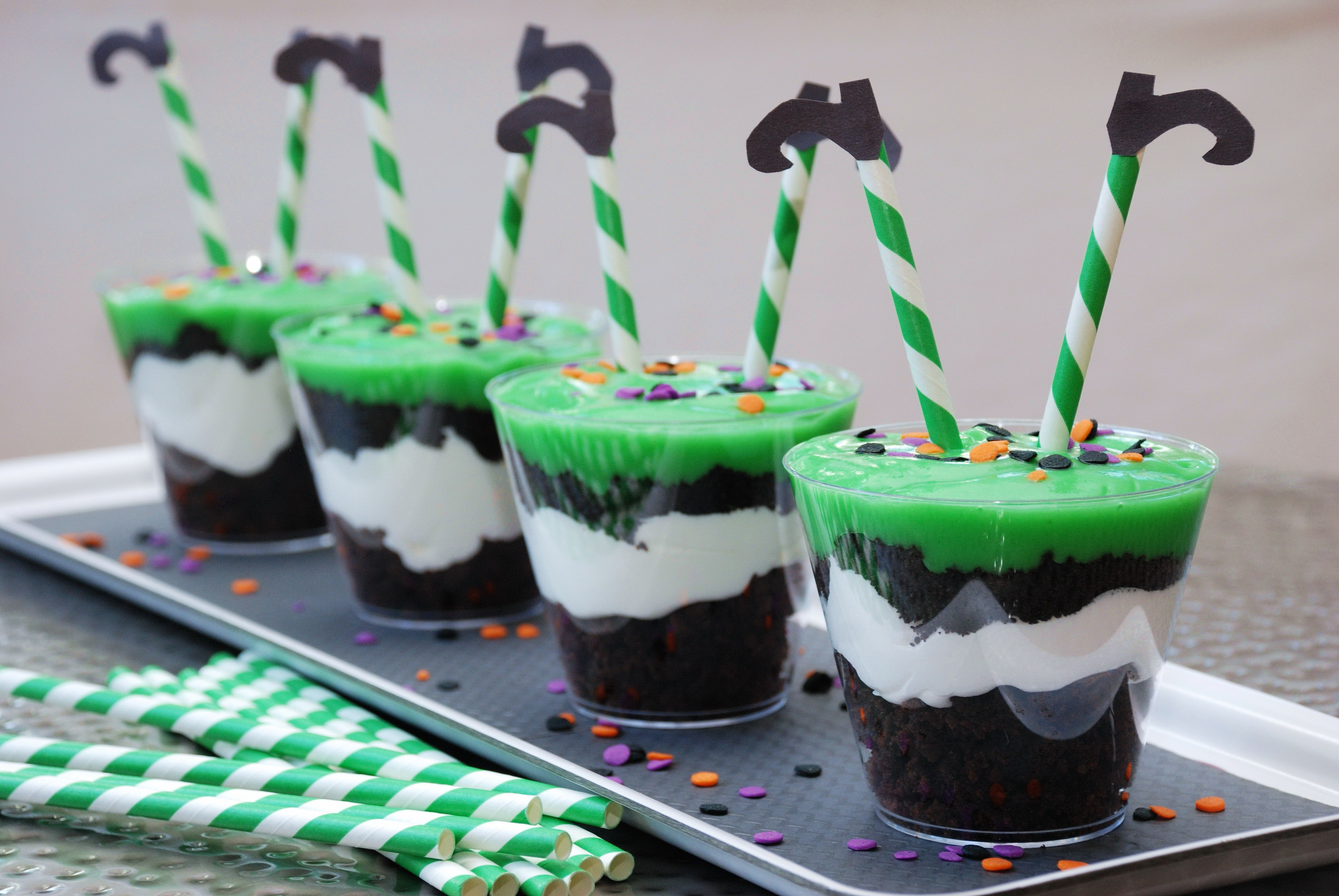 Witchy Brownie Parfaits