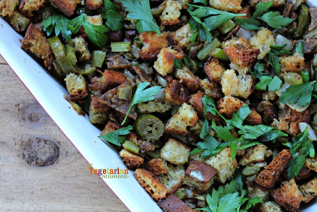 Jalapeno Stuffing @Vegetarianmamma.com - Fresh from the oven