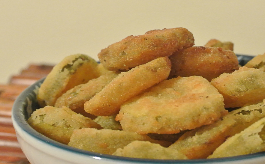 how to make fried pickles without flour