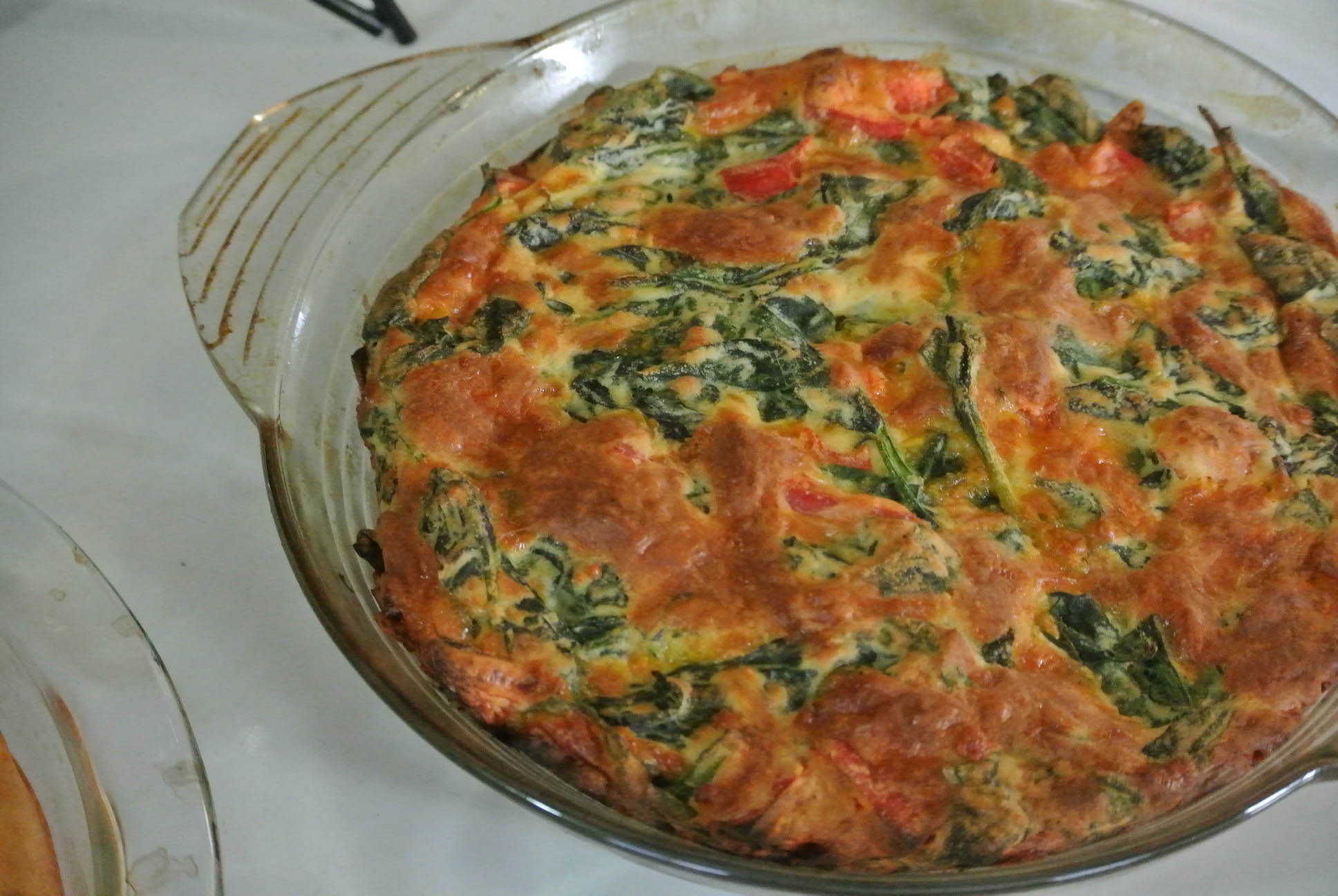 impossible spring vegetable pie