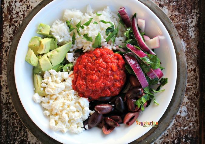 Mediterranean Rice Bowl @Vegetarianmamma.com - GlutenFree and Flavorful