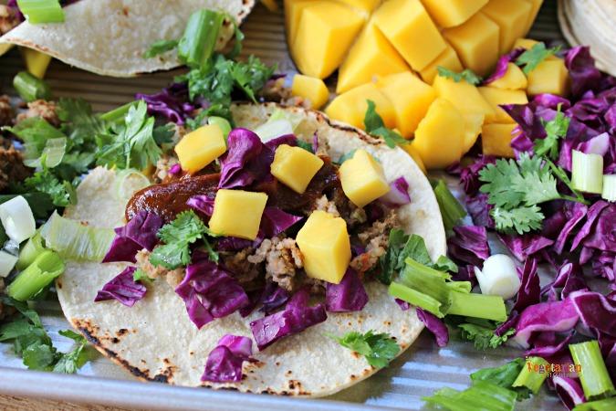 Veggie Burger Tacos @Vegetarianmamma.com - Soft Gluten Free Tortillas