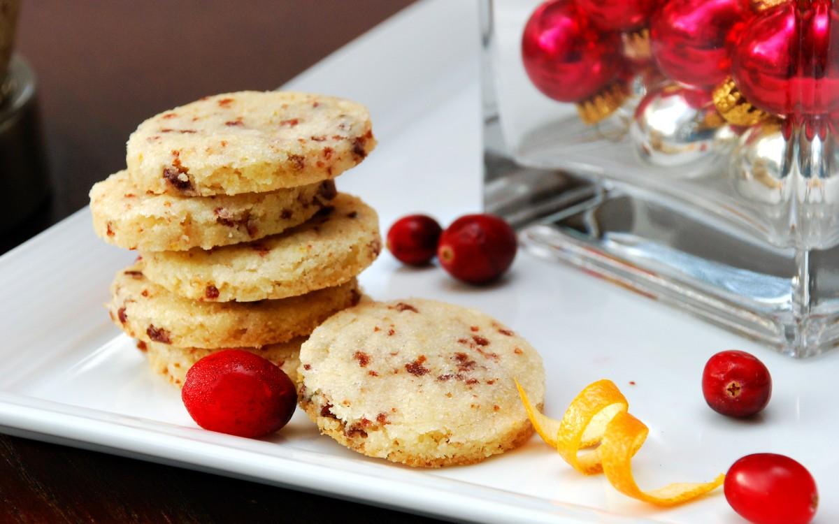 cranberry orange shortbread cookies cranberry and orange flavors make ...
