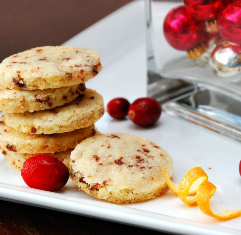 Cranberry Orange Shortbread Cookies - Better Batter Gluten Free Flour