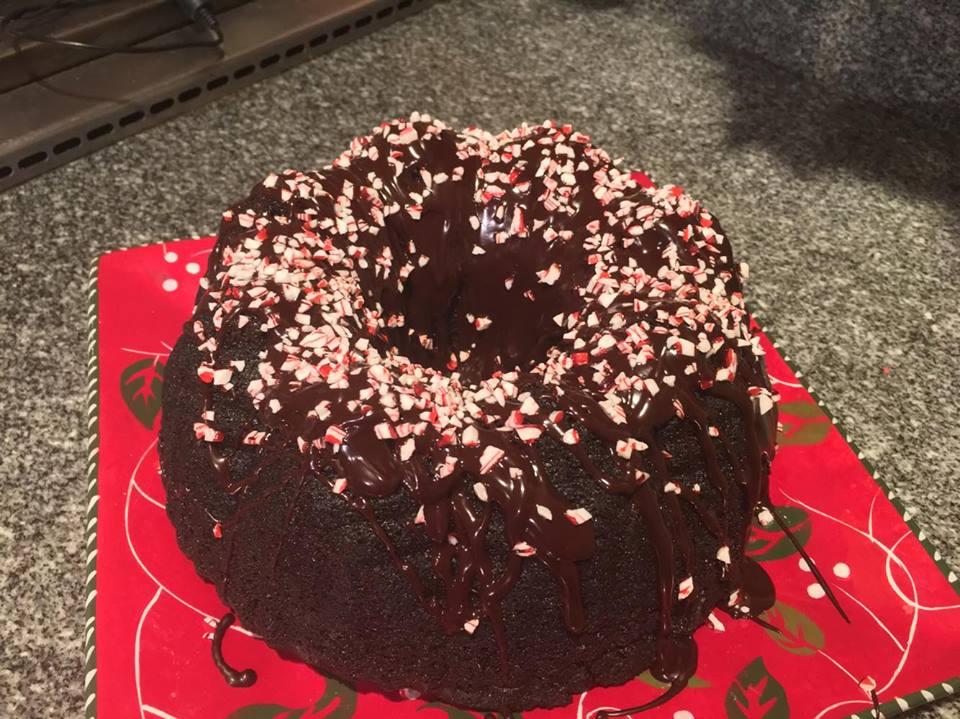 Patrick's Peppermint Chocolate Bundt Cake