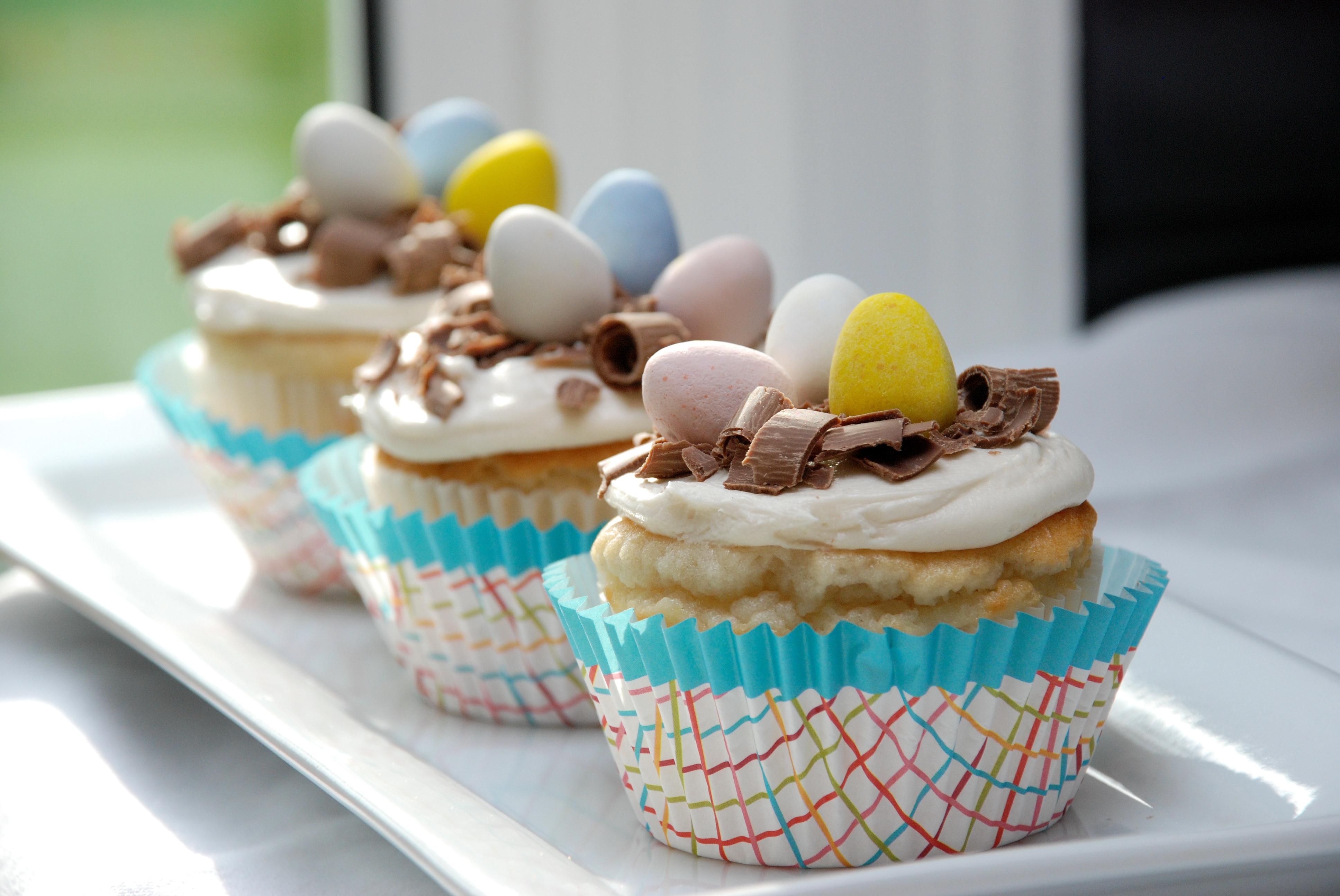 White Easter Egg Cupcakes