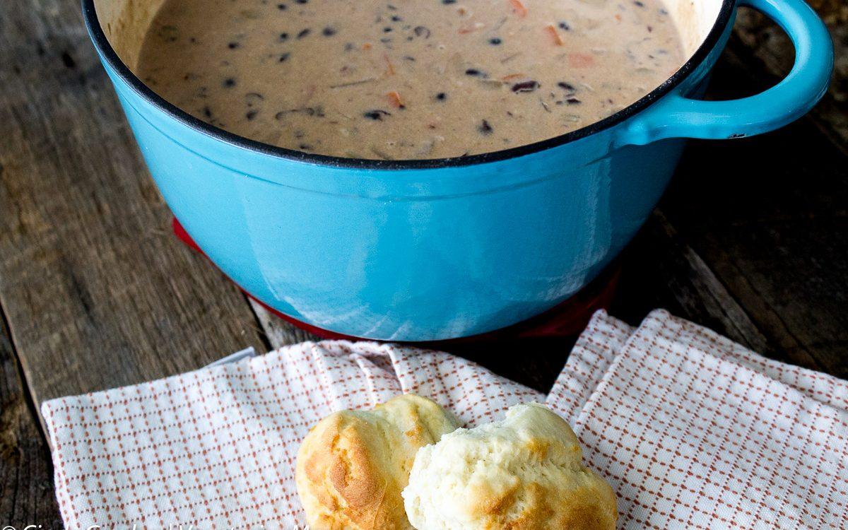 Cheesy Potato Bean Soup @Vegetarianmamma.com 1
